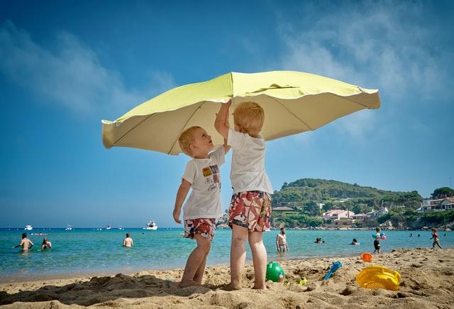 parasol vastzetten